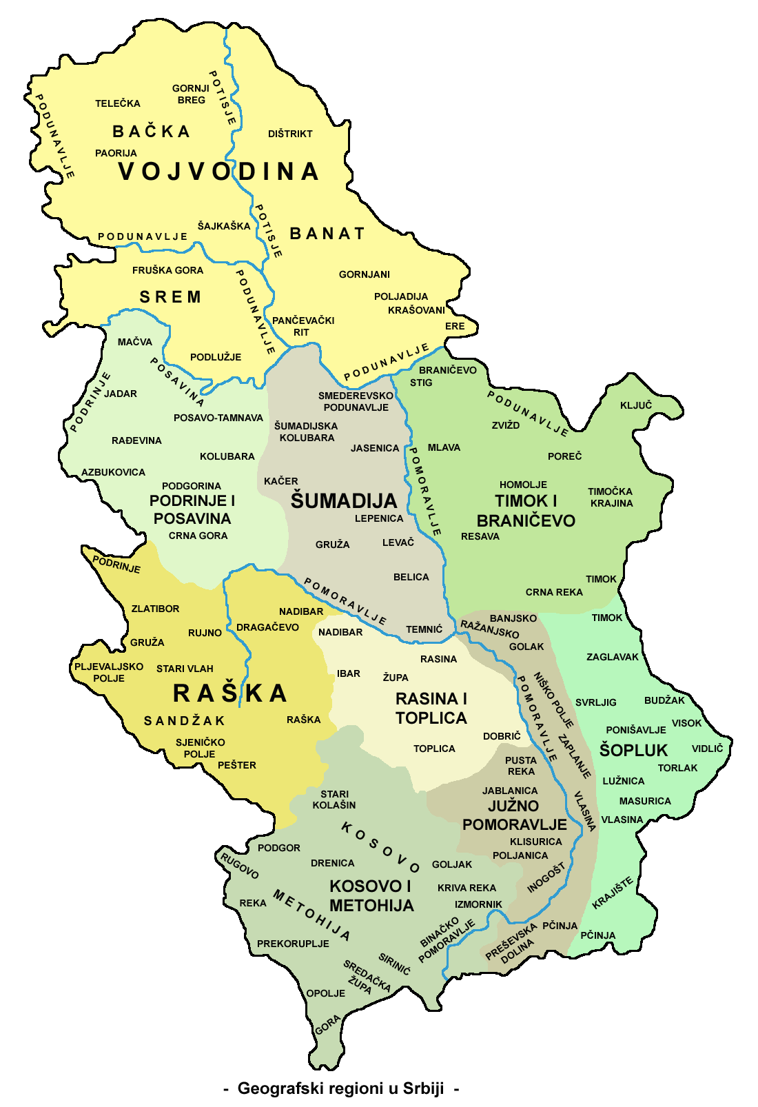 Srbija Granice
