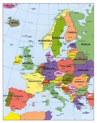 mapa evrope gradovi Evropa glavni gradovi, religija, jezici | ZAVRTI GLOBUS mapa evrope gradovi
